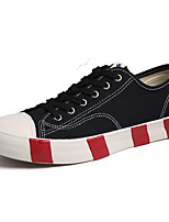 cheap -Men's Canvas Spring / Fall Comfort Sneakers Color Block Black / Dark Blue