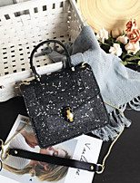 cheap -Women's Bags PU(Polyurethane) Shoulder Bag Buttons Black / Silver / Blushing Pink