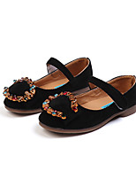 cheap -Girls' Shoes Flocking Spring & Summer Comfort Flats Walking Shoes Rhinestone / Buckle / Magic Tape for Kids Pink / Khaki / Royal Blue