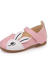 cheap -Girls' Shoes PU(Polyurethane) Summer Comfort Flats Walking Shoes for Kids Black / Red / Pink