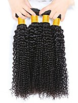 cheap -Malaysian Hair Curly Natural Color Hair Weaves / Human Hair Extensions 4 Bundles 8-28 inch Human Hair Weaves Capless Fashionable Design / Best Quality / Hot Sale Natural Black Human Hair Extensions