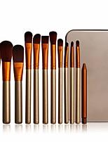 abordables -12 pcs Pinceaux à maquillage Professionnel ensembles de brosses Fibre Nylon Economique / Doux Bois / bambou
