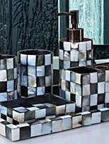 abordables -Set d'Accessoires de Salle de Bain Design nouveau / Créatif Moderne Résine 6pcs - Salle de  Bain Simple