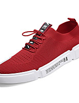 cheap -Men's Linen / Elastic Fabric Summer Comfort Sneakers White / Black / Red