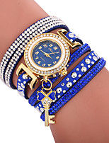 cheap -Xu™ Women's Bracelet Watch / Wrist Watch Chinese Creative / Casual Watch / Adorable PU Band Bohemian / Fashion Black / White / Blue