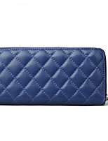 cheap -Women's Bags PU(Polyurethane) Wallet Zipper Blushing Pink / Dark Blue / Fuchsia