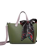 cheap -Women's Bags PU(Polyurethane) Tote Sashes / Ribbons Black / Dark Green