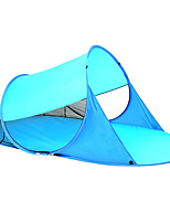 cheap -3 person Screen Tent / Beach Tent Single Camping Tent Outdoor Lightweight, UV resistant, UPF50+ for Beach / Camping / Hiking / Caving / Picnic <1000 mm Oxford Cloth 245*145*90 cm