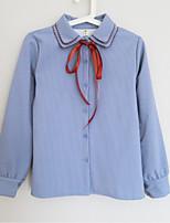 cheap -Women's Basic Shirt - Striped Bow