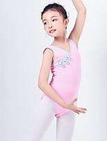 abordables -Danse classique justaucorps Fille Entraînement / Utilisation Coton Noeud en satin Sans Manches Taille moyenne Collant / Combinaison