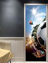 Недорогие -Декоративные наклейки на стены / Дверные наклейки - Праздник стены стикеры Футбол / 3D Гостиная / Спальня