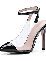 cheap -Women's Shoes Patent Leather Spring & Summer Basic Pump Heels Stiletto Heel Pointed Toe Black / Beige / Red / Party & Evening