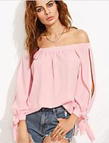 abordables -Mujer Retazos Camisa Un Color
