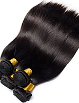 cheap -6 Bundles Peruvian Hair Straight Human Hair Natural Color Hair Weaves / Extension / Bundle Hair 8-28 inch Human Hair Weaves Machine Made Classic / Best Quality / For Black Women Black Natural Color