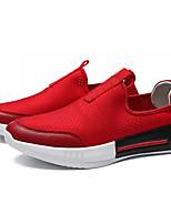 abordables -Homme Chaussures Toile Eté Confort Mocassins et Chaussons+D6148 Blanc / Noir / Rouge