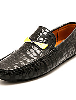 cheap -Men's Shoes Faux Leather / PU(Polyurethane) Fall Moccasin Loafers & Slip-Ons Black / Gray / Red