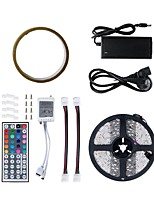 cheap -5m Flexible LED Light Strips / RGB Strip Lights 300 LEDs SMD5050 1 44Keys Remote Controller / 1 X 5A power adapter RGB / White / Red Cuttable / Waterproof / Decorative 100-240 V 1set