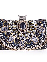 cheap -Women's Bags Polyester Evening Bag Beading / Crystals Black