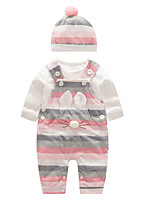 cheap -Baby Girls' Striped / Color Block Long Sleeve Clothing Set