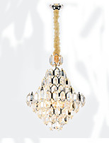 abordables -QIHengZhaoMing 10 lumières Cristal Lustre Lumière d'ambiance 110-120V / 220-240V, Blanc Crème, Ampoule incluse / 15-20㎡