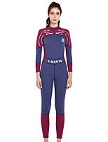 cheap -Dive&Sail Women's Dive Skin Suit UV Sun Protection, Anti-Eradiation, Wearable Chinlon / Elastane Long Sleeve Swimwear Beach Wear Sun Shirt Swimming / Diving / Snorkeling