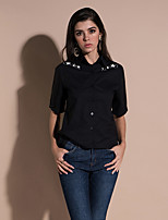 cheap -women's going out shirt - solid colored v neck