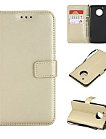 cheap -Case For Motorola MOTO G5 Plus / MOTO G5 Wallet / Card Holder / Flip Full Body Cases Solid Colored Hard PU Leather for Moto G5s Plus / Moto G5s / Moto G5 Plus
