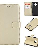 economico -Custodia Per Motorola G5 Plus / G5 A portafoglio / Porta-carte di credito / Con chiusura magnetica Integrale Tinta unita Resistente pelle sintetica per Moto G5s Plus / Moto G5s / Moto G5 più
