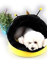 Недорогие -Собаки / Коты Кровати Животные Коврики и подушки Контрастных цветов / Персонажи Компактность / Теплый / Дышащий Желтый Для домашних животных