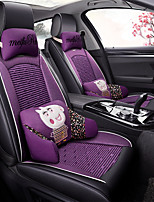 cheap -ODEER Car Seat Cushions Seat Covers Black / Purple Textile / Artificial Leather Common for universal All years All Models