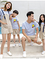 cheap -Kids Family Look Striped Short Sleeve Clothing Set