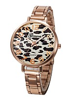 cheap -Couple's Wrist Watch Quartz Chronograph Creative Casual Watch Stainless Steel Band Analog Bangle Elegant Silver / Gold / Rose Gold - Leopard Rose Gold Pink Leopard One Year Battery Life