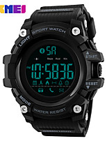cheap -SKMEI Men's Sport Watch / Digital Watch Chinese Bluetooth / Calendar / date / day / Water Resistant / Water Proof Silicone Band Casual / Fashion Black / Blue / Red / Large Dial