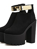 cheap -Women's Shoes Suede Fall Bootie Boots Chunky Heel Booties / Ankle Boots Black
