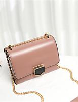 cheap -Women's Bags Cowhide Shoulder Bag Buttons Blushing Pink / Dark Green / Brown