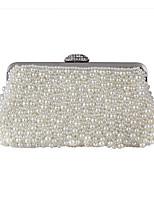 preiswerte -Damen Taschen Polyester Abendtasche Kristall Verzierung / Perlen Verzierung Weiß / Beige