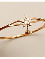 Недорогие -Жен. Браслет цельное кольцо - Розовое золото, Золото 18K Шарообразные европейский, Массивный Браслеты Розовое золото Назначение Свадьба / Повседневные