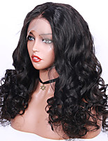 cheap -Remy Human Hair Lace Front Wig Wig Brazilian Hair / Loose Wave Wavy 130% Density With Baby Hair / Natural Hairline / African American Wig Women's Short Human Hair Lace Wig