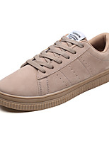 cheap -Men's PU(Polyurethane) Spring / Fall Comfort Sneakers Gray / Red / Khaki