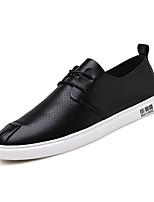 cheap -Men's Patent Leather Summer Comfort Sneakers Black / Gray / Khaki