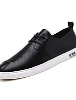 Недорогие -Муж. Лакированная кожа Лето Удобная обувь Кеды Черный / Серый / Хаки