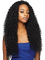 cheap -Virgin Human Hair 360 Frontal Wig Brazilian Hair Curly With Ponytail 180% Density Women Natural Women's Long Human Hair Lace Wig