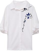 cheap -women's going out blouse - floral shirt collar