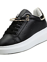 cheap -Women's Shoes PU(Polyurethane) Summer Comfort Sneakers Flat Heel Round Toe White / Black