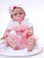 cheap -FeelWind Reborn Doll Baby Girl 22 inch Vinyl - lifelike, Hand Applied Eyelashes Kid's Girls' Gift