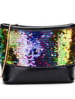 preiswerte -Damen Taschen PU Umhängetasche Paillette / Reißverschluss Regenbogen