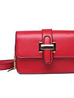 cheap -Women's Bags PU(Polyurethane) Shoulder Bag Buttons Red / Brown / Khaki