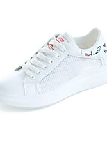 cheap -Women's Shoes Mesh / PU(Polyurethane) Spring & Summer Comfort Sneakers Walking Shoes Flat Heel Round Toe Black / Red