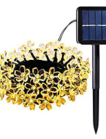 cheap -5m String Lights 50 LEDs 1Set Mounting Bracket Warm White / RGB / White Solar / Waterproof / Decorative 2 V 1set