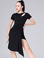 cheap -Latin Dance Dresses Women's Performance Modal Ruching Short Sleeve Dress